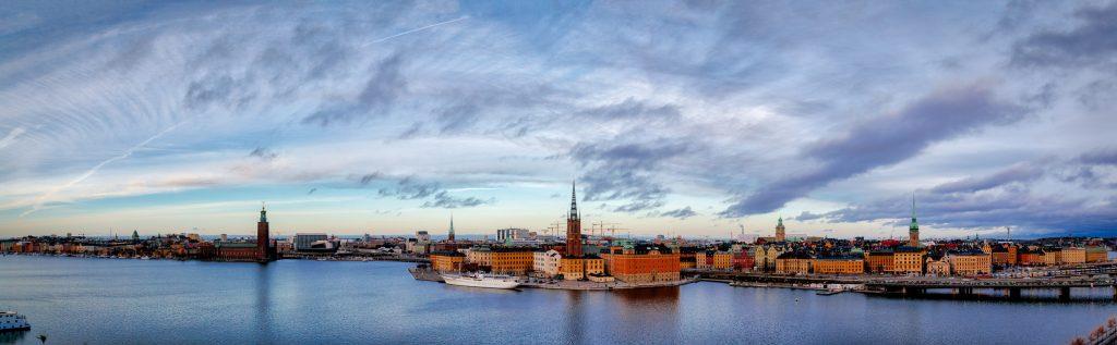 Stockholm, Riddarholmen, Gamla Stan and Stadshuset