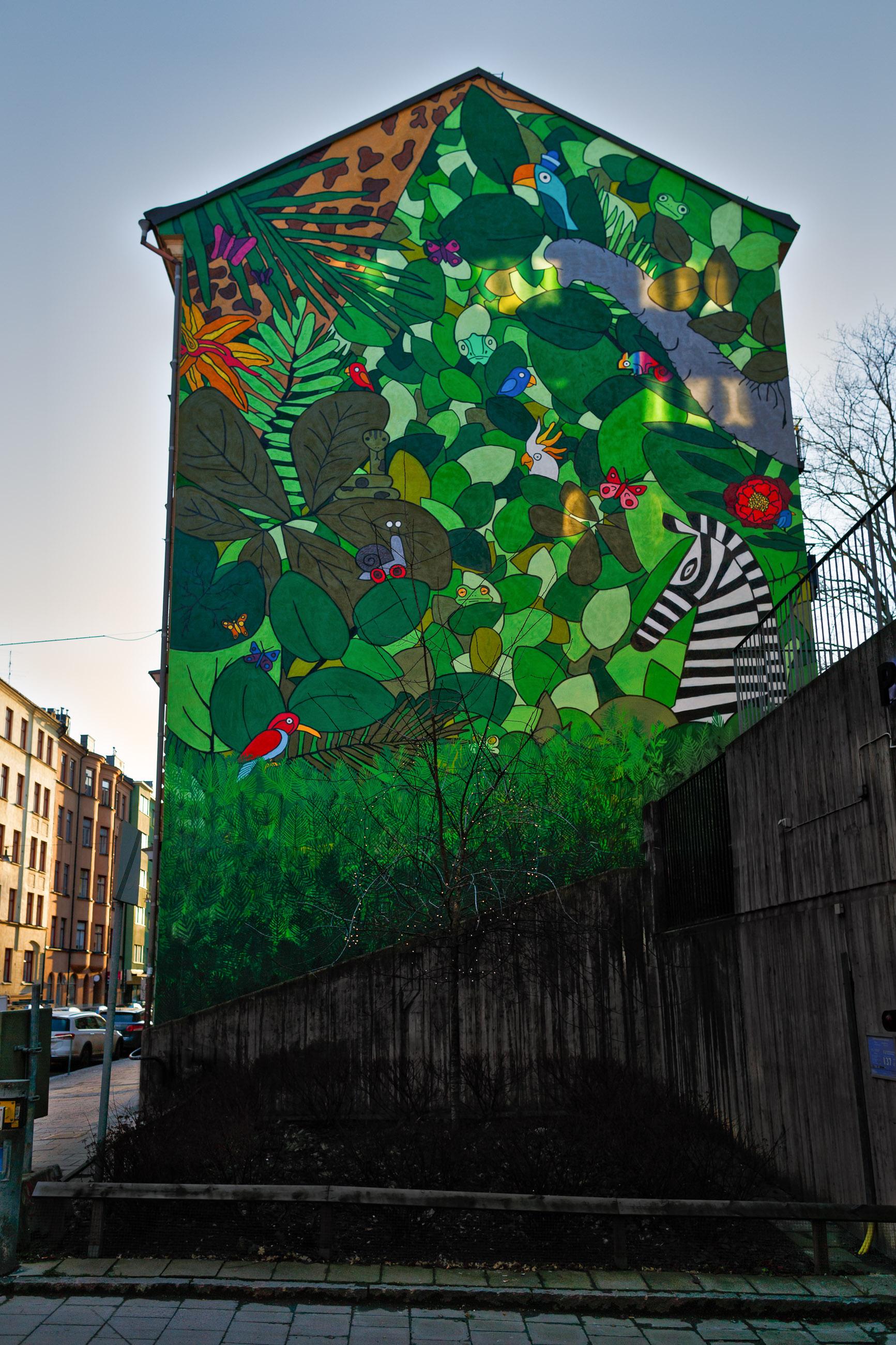 Wall painting, Hagagatan, Stockholm