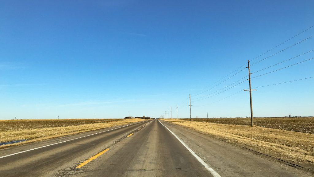 Enkelt att köra i USA. Rätt så raka vägar