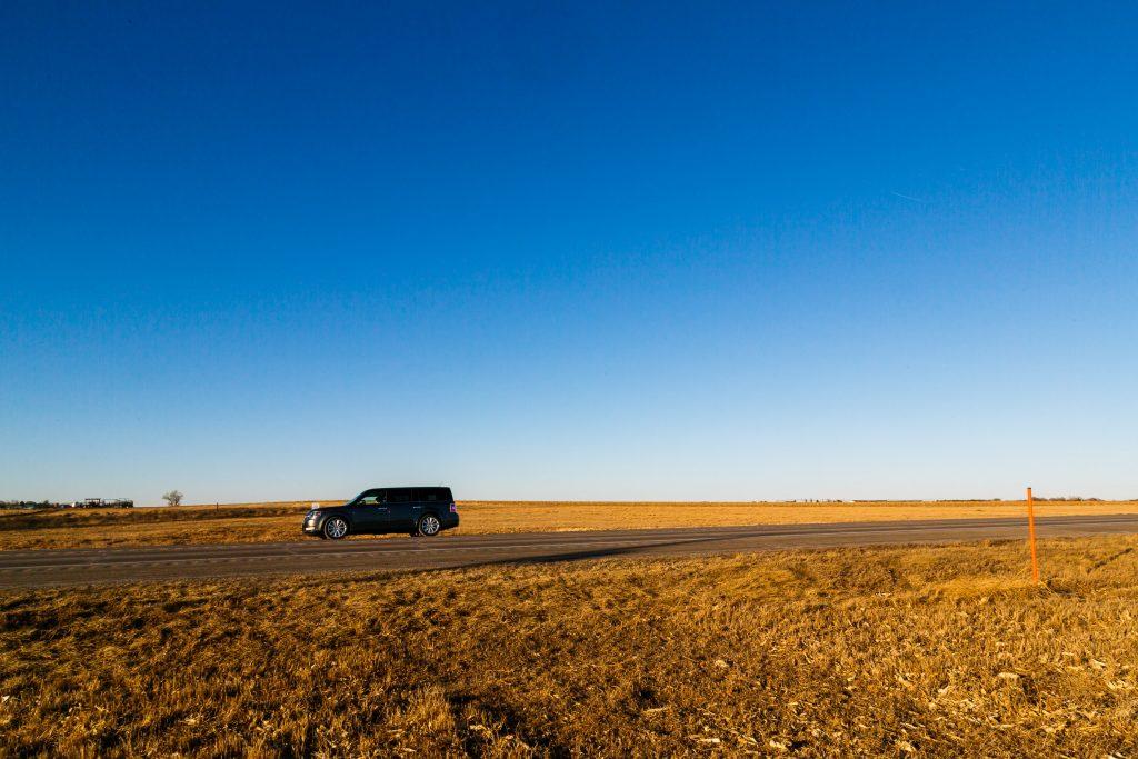Platt landskap i Nebraska