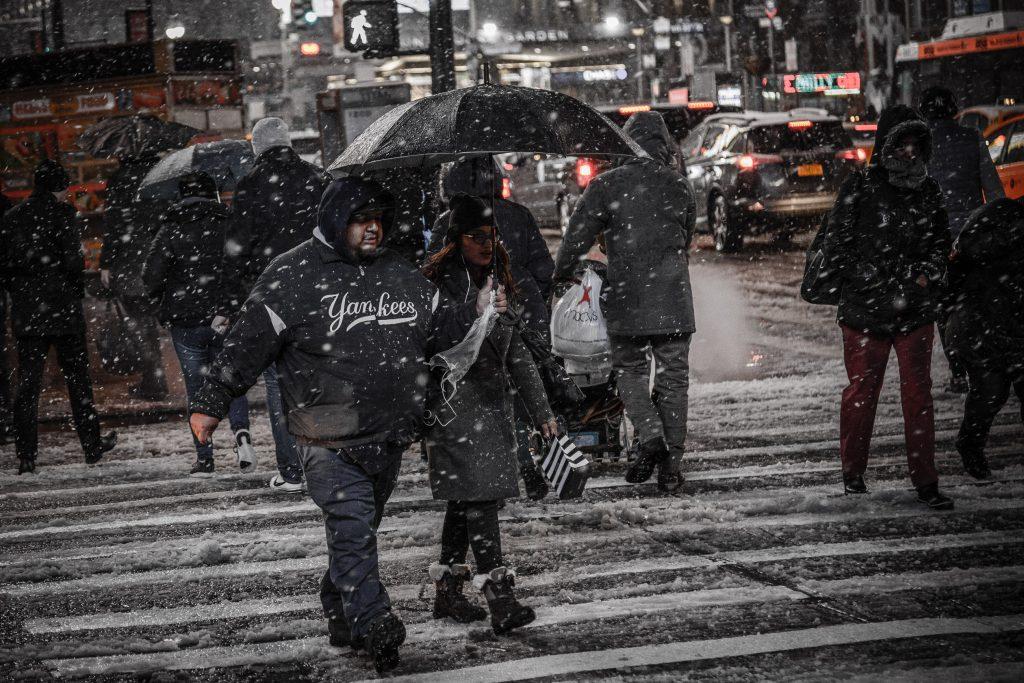 Paraply i Snöovädret!