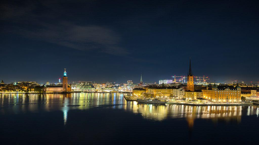 Stockholm night view